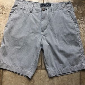 Navy Pin Striped American Eagle Shorts